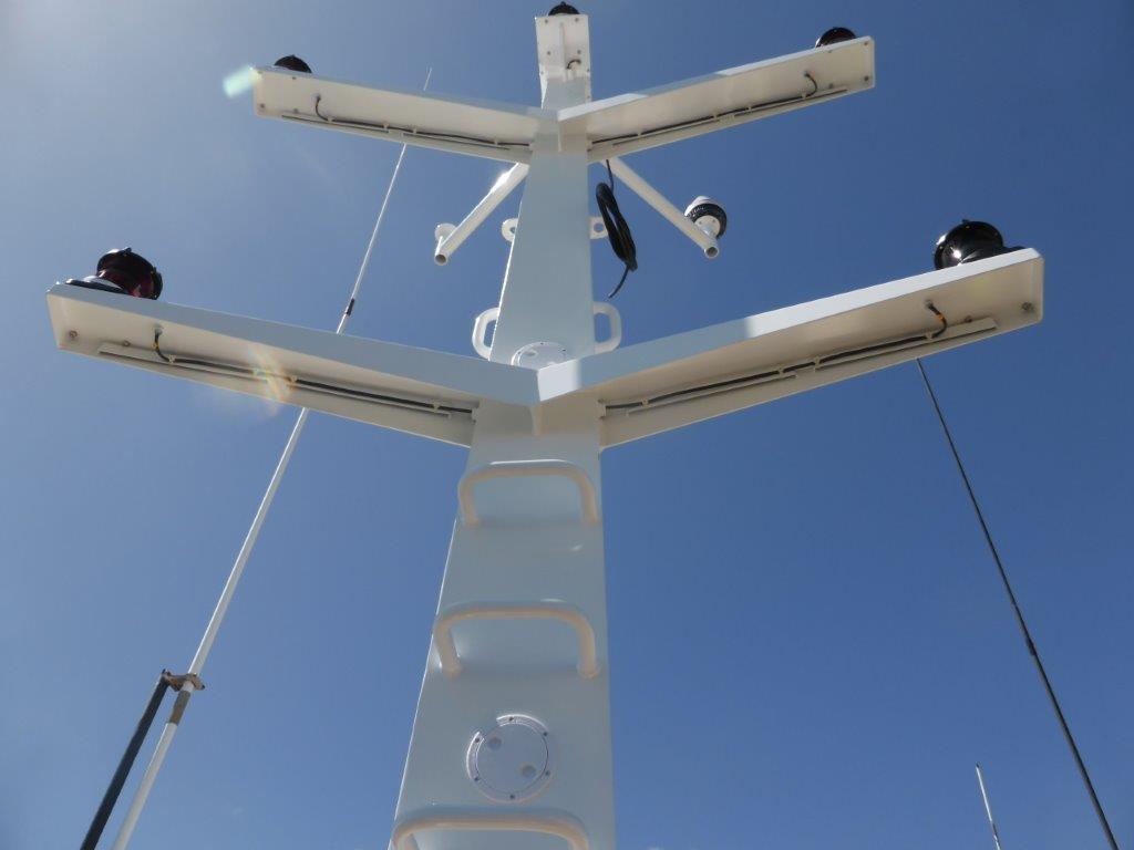 Plan de fabrication du mât de feux sur Pescana COURAGEUX et consultation pour fabrication